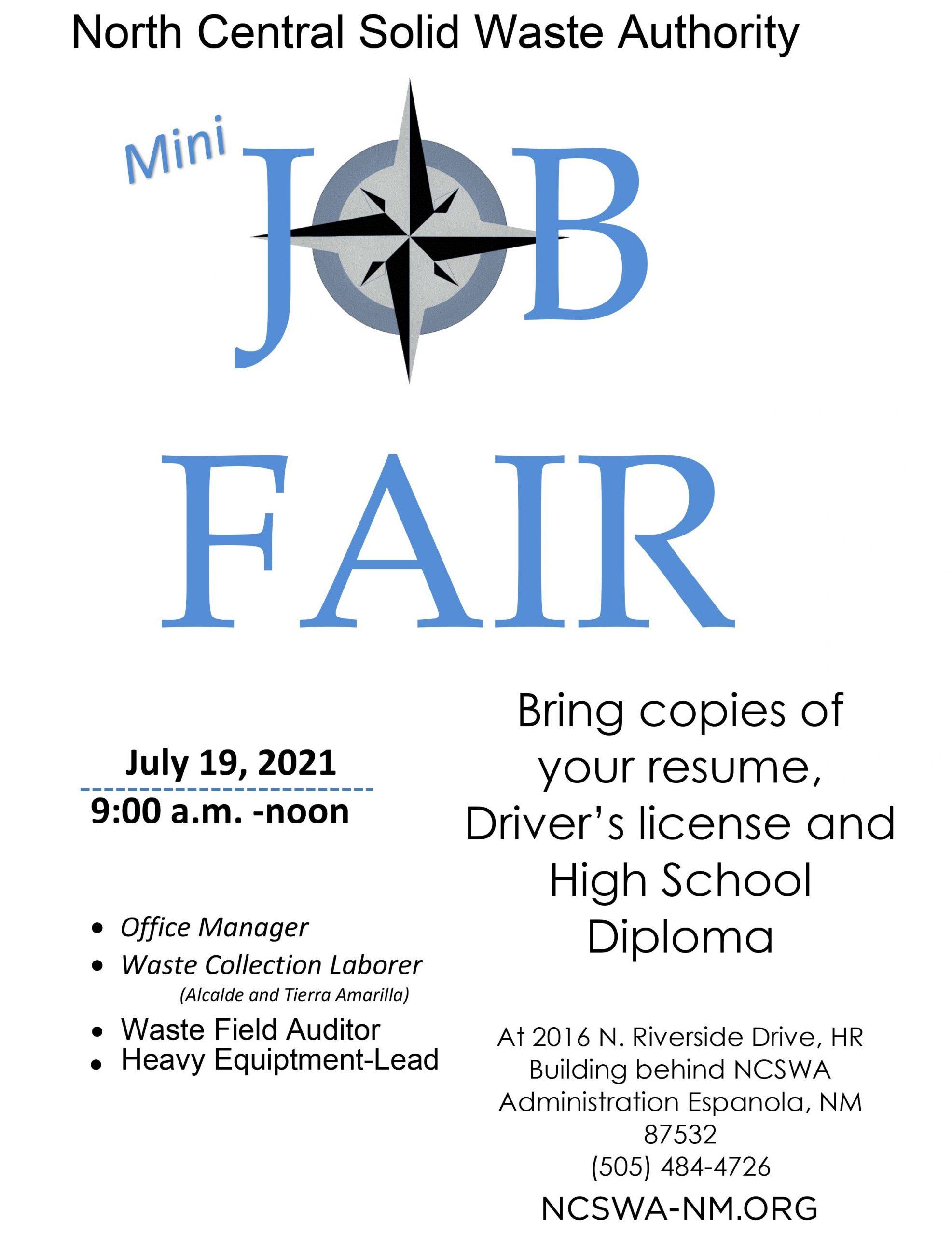 Mini Job Fair Flyer
